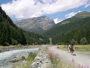 a cavallo nella vallèe