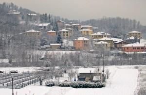 Inverno delicato, con il bianco e i colori pastello