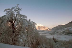 La valle sotto la neve
