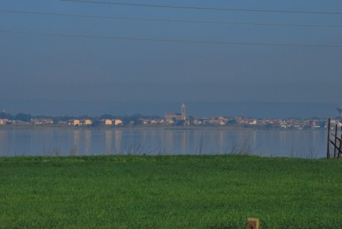 Santa Giusta - Santa Giusta (OR) - Vista dallo stagno