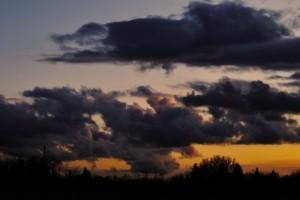 Il tramonto dopo il temporale