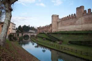 Cittadella - Le mura medievali (Sud Ovest, verso Nord)