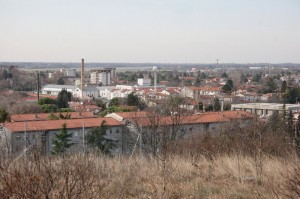 Ronchi dei Legionari: panorama verso l'aereoporto di Trieste