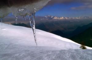 La Valle con la cima del Disgrazia dalla Rosetta
