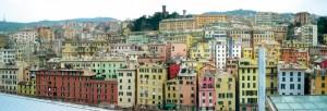 Panorama su Genova ed il suo castello