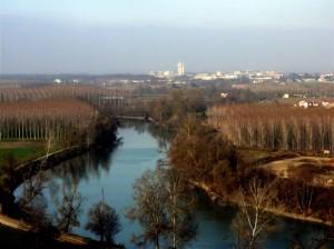 Quattordio visto dal fiume Tanaro…