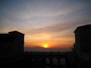 tramonto dall'Abbazia