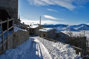 Panorama invernale da Castelluccio