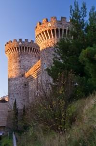 Primo sole sul castello