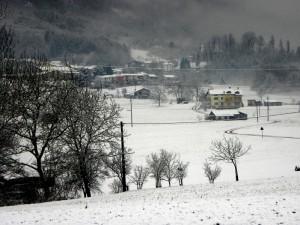 Un panorama con la neve non e' un b/n