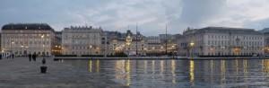 Dicembre a Trieste, al tramonto.