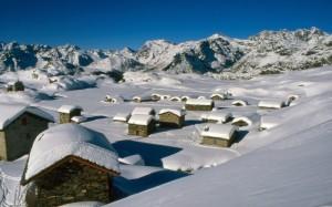 Un paesaggio da fiaba tra le nevi della Valmalenco