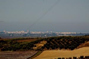 il panorama che si vede dal mio terrazzo a Canosa infondo Cerignola