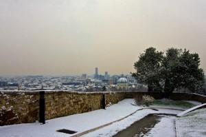 inverno bresciano vista dal castello