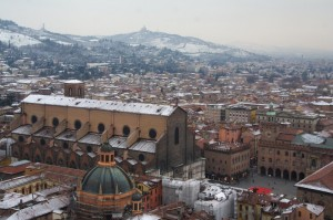 Veduta di Bologna verso San Petronio