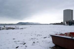Neve sul mare