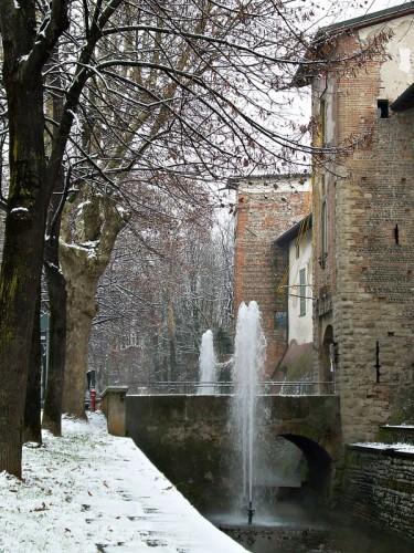 Cologno al Serio - La rocca e la neve