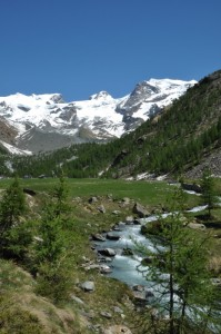 Pian di Verra Inferiore e parte del Monte Rosa (AO)
