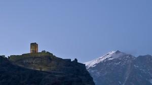 Montjovet, castello ora blu