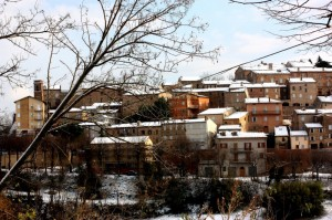 la prima neve a SANT ' ANGELO in PONTANO