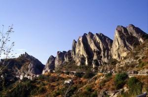 Pietrapertosa: veduta delle Dolomiti Lucane