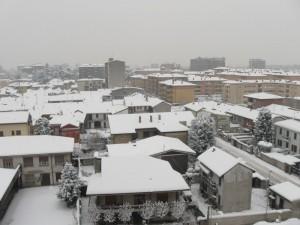 Desio sotto la neve