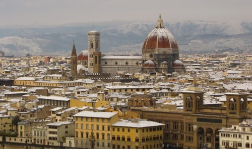 Firenze - firenze innevata vista dal Piazzale