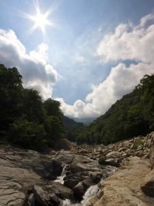 Panorama dal torrente Cervo