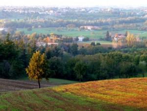 Vista sulle colline reggiane