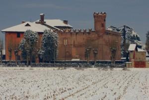 neve sul Castello di Buriasco