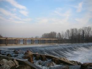 Panorama sul fiume Brenta da Carturo verso Lobia