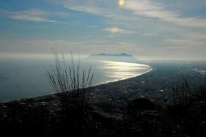 costa di Terracina vista dal Tempio di Giove
