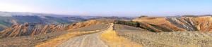 Panorama estivo delle colline faentine
