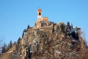 Torre dell'Orologio dopo una nevicata