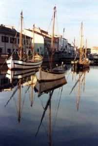 geometrie marinare sul porto canale