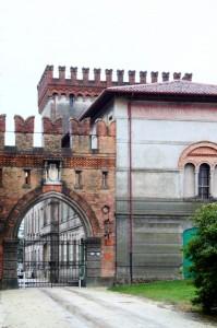 Ingresso della Villa-castello Lucheschi