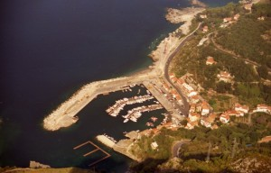 Il porto visto dalla statua del Redentore