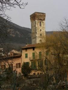 La torre del Ricetto di San Mauro