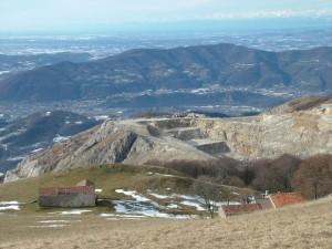 La Cava Italcementi dal Linzone