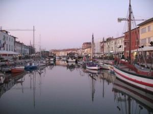 Panorama del porto canale