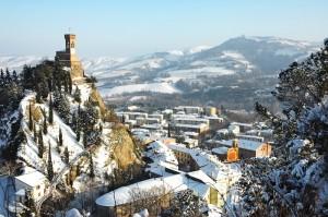 Panorama innevato di Brisighella