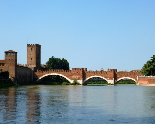 Verona - Castelvecchio, Il Ponte.....