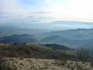Pradipaldo, sullo sfondo Colli Euganei e Berici