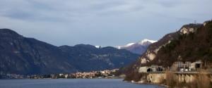 Panorama della punta di Abbadia Lariana.