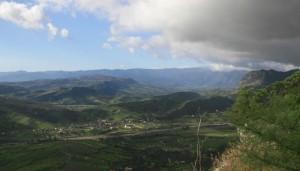 Veduta della frazione di Bagni dal belvedere di Gerace