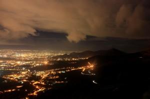stasera da Casertavecchia…un prato di luci all'orizzonte