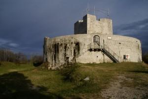 il sole sulla Rocca di Monfalcone