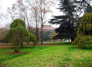 Il Castello di Casale si intravede fra le fronde del parco