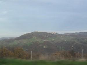Lungo la strada per Castellino…..