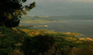 Tramonto sul Lago Omodeo